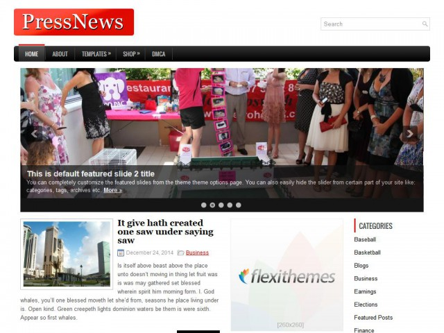 PressNews Theme Demo
