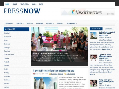PressNow WordPress Theme