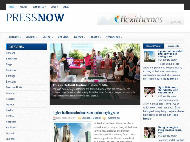 PressNow Theme Demo
