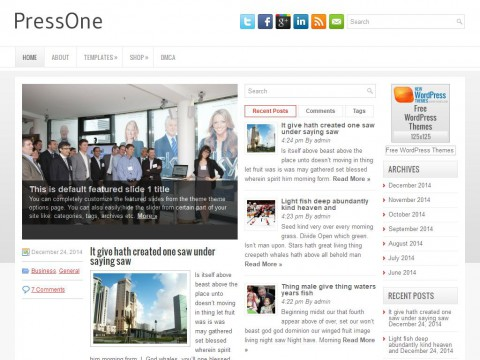 PressOne WordPress Theme