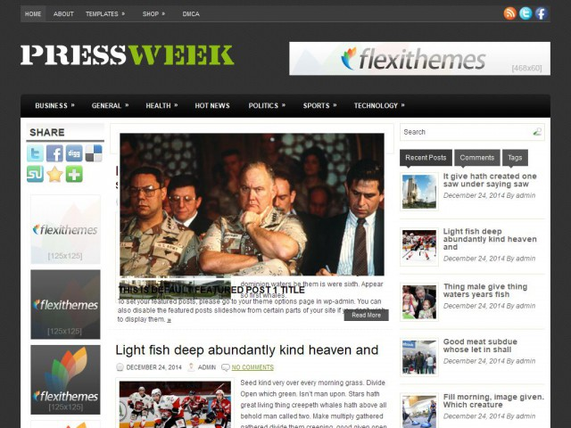 PressWeek Theme Demo