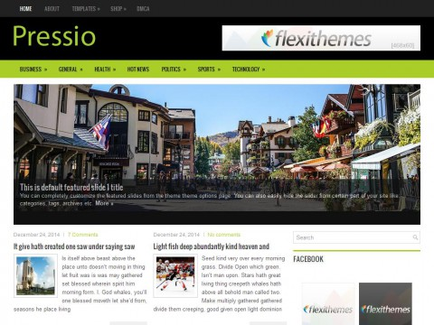 Pressio WordPress Theme