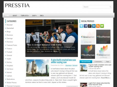 Presstia WordPress Theme