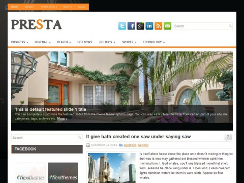 Presta WordPress Theme