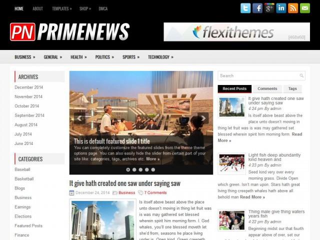 PrimeNews Theme Demo