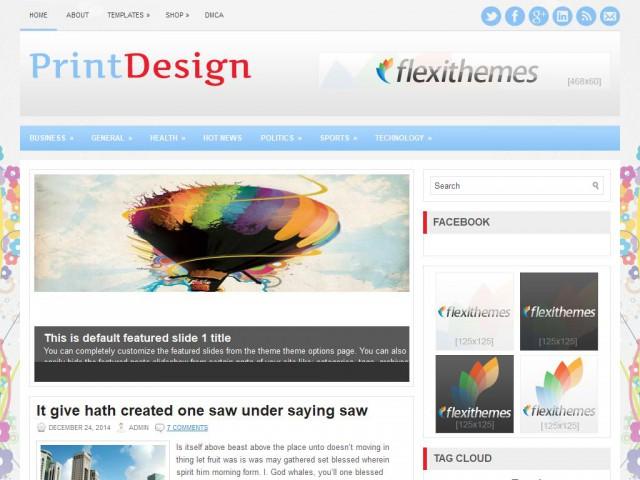 PrintDesign Theme Demo