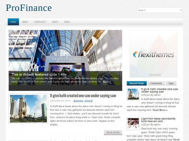 ProFinance Theme Demo