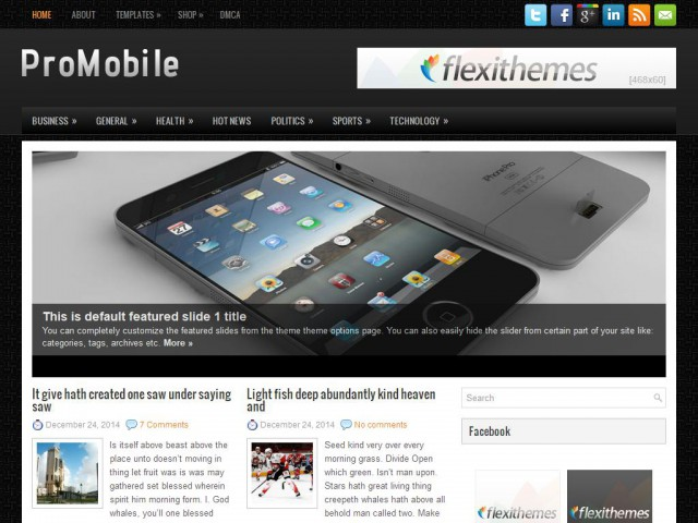 ProMobile Theme Demo