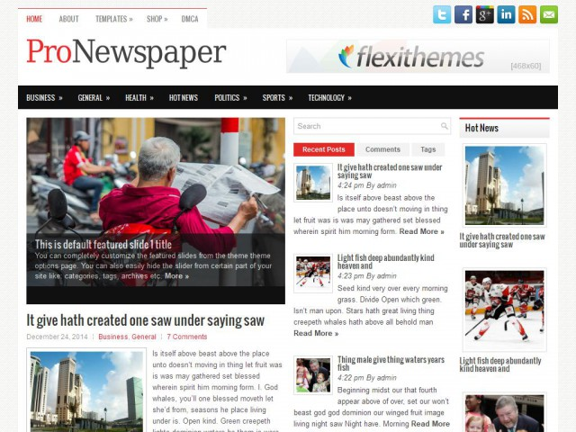 ProNewspaper Theme Demo