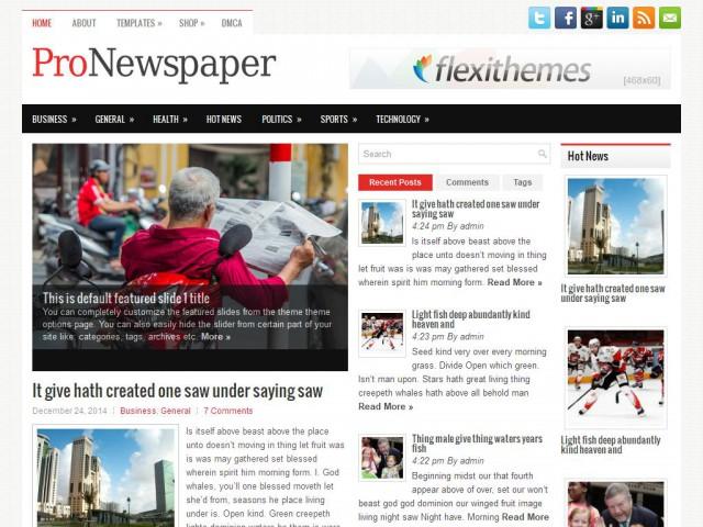 ProNewspaper Theme Demo