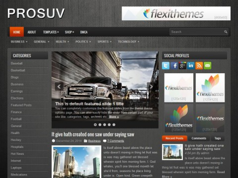 ProSUV WordPress Theme