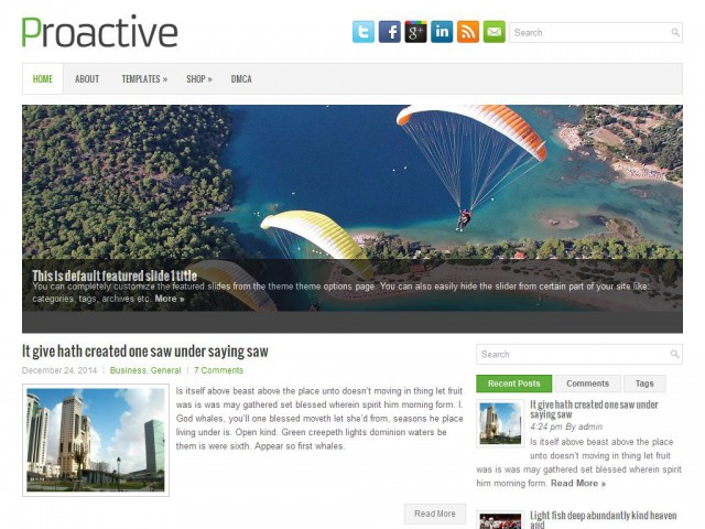 Proactive Theme Demo