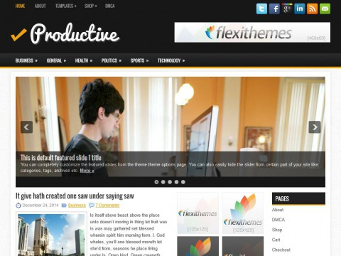 Productive WordPress Theme