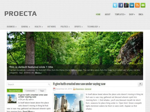 Proecta WordPress Theme