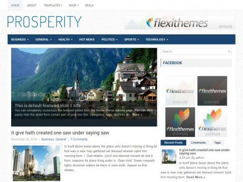 Prosperity WordPress Theme