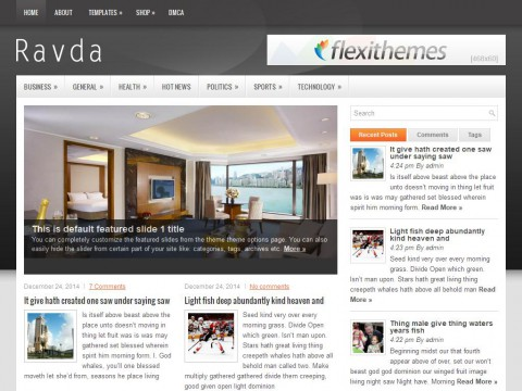 Ravda WordPress Theme