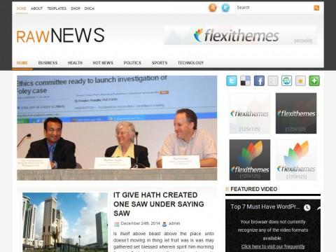 RawNews WordPress Theme