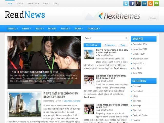 ReadNews Theme Demo