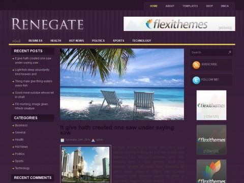Renegate WordPress Theme