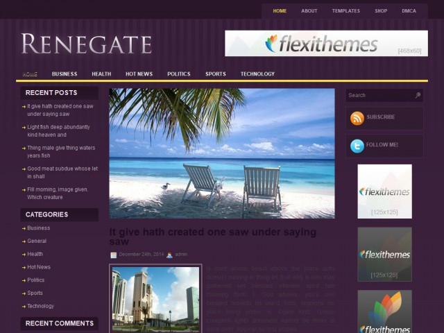 Renegate Theme Demo