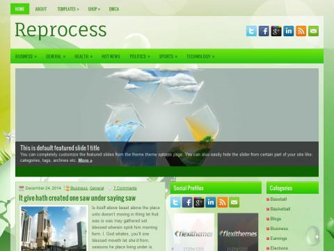 Reprocess WordPress Theme