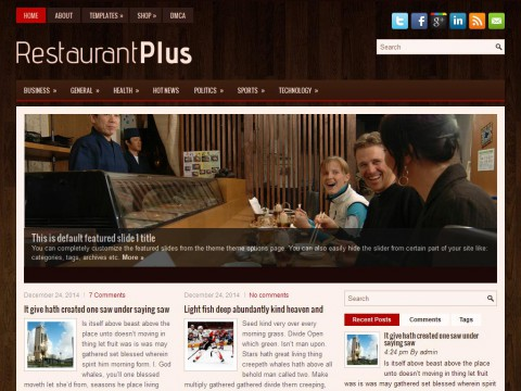 RestaurantPlus WordPress Theme