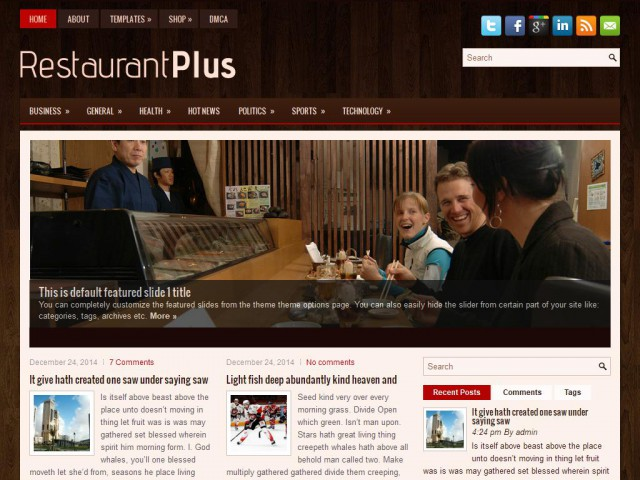 RestaurantPlus Theme Demo
