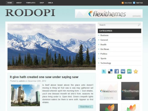 Rodopi WordPress Theme