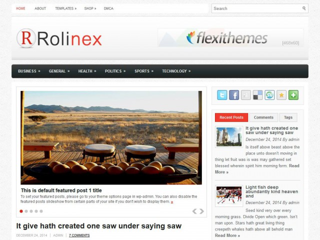 Rolinex Theme Demo