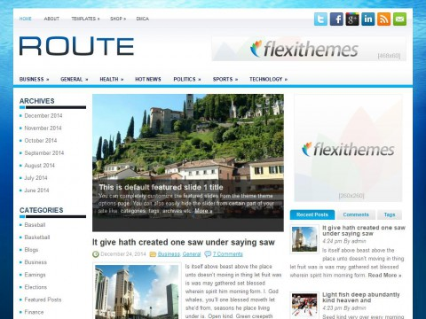 Route WordPress Theme