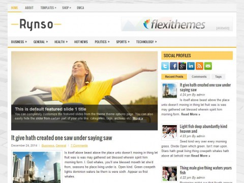Rynso WordPress Theme