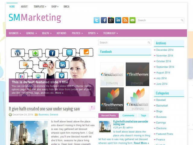 SMMarketing Theme Demo