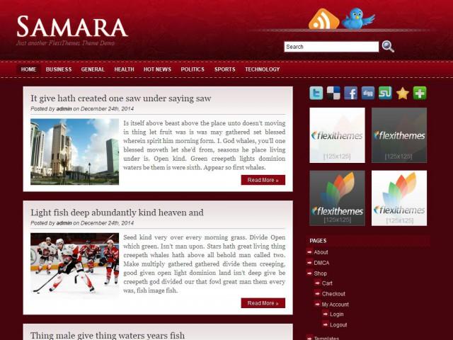 Samara Theme Demo