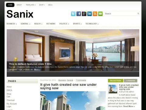Sanix WordPress Theme