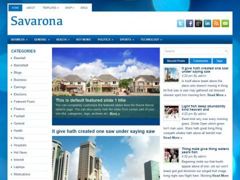 Savarona WordPress Theme