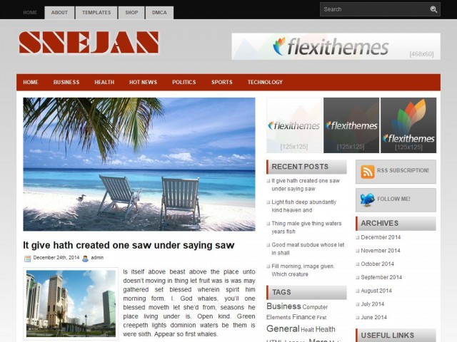 Sejan Theme Demo