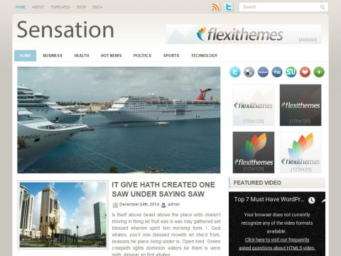 Sensation WordPress Theme