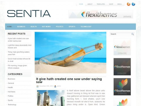 Sentia WordPress Theme