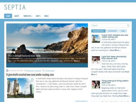 Septia WordPress Theme