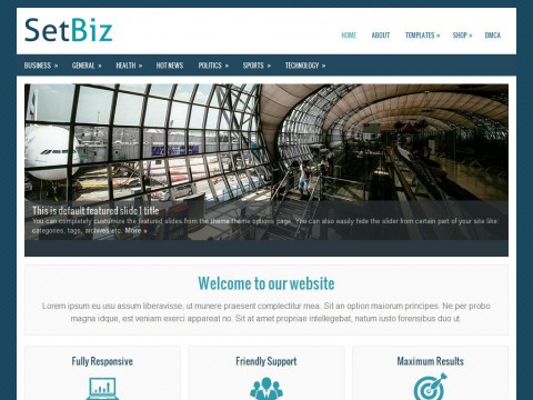 SetBiz WordPress Theme