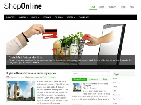 ShopOnline WordPress Theme