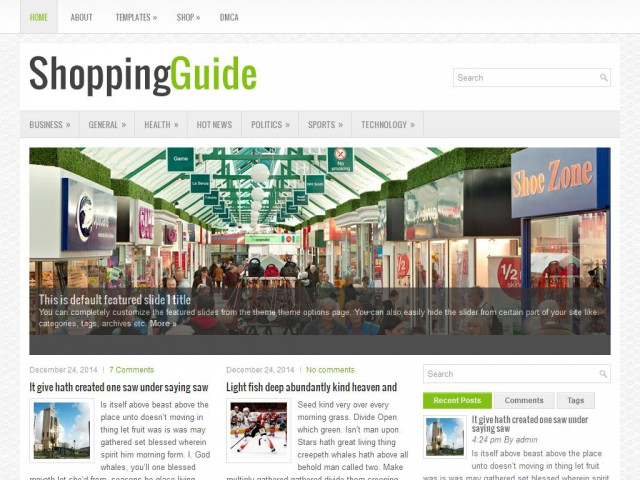 ShoppingGuide Theme Demo