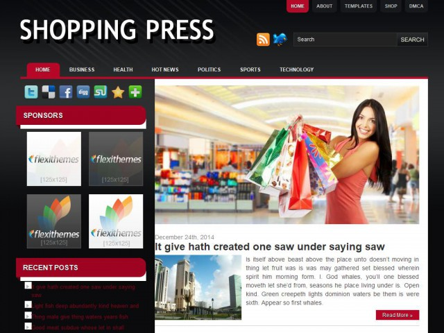 Shopping Press Theme Demo