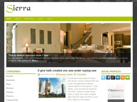Sierra WordPress Theme