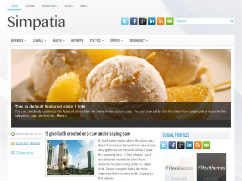 Simpatia WordPress Theme