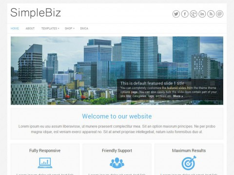SimpleBiz WordPress Theme