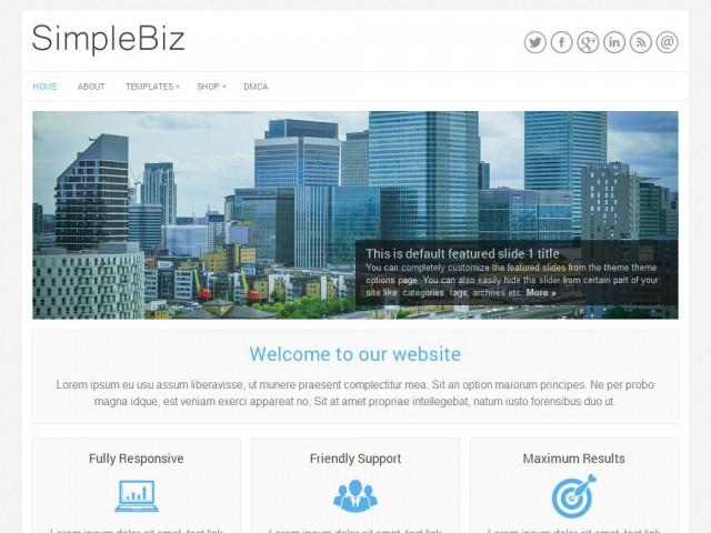 SimpleBiz Theme Demo