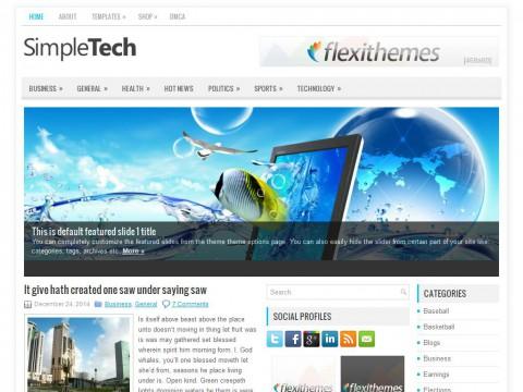SimpleTech WordPress Theme