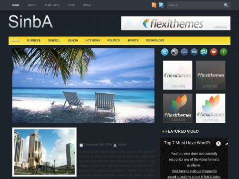 Sinba WordPress Theme