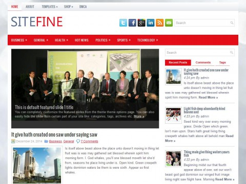 Sitefine WordPress Theme